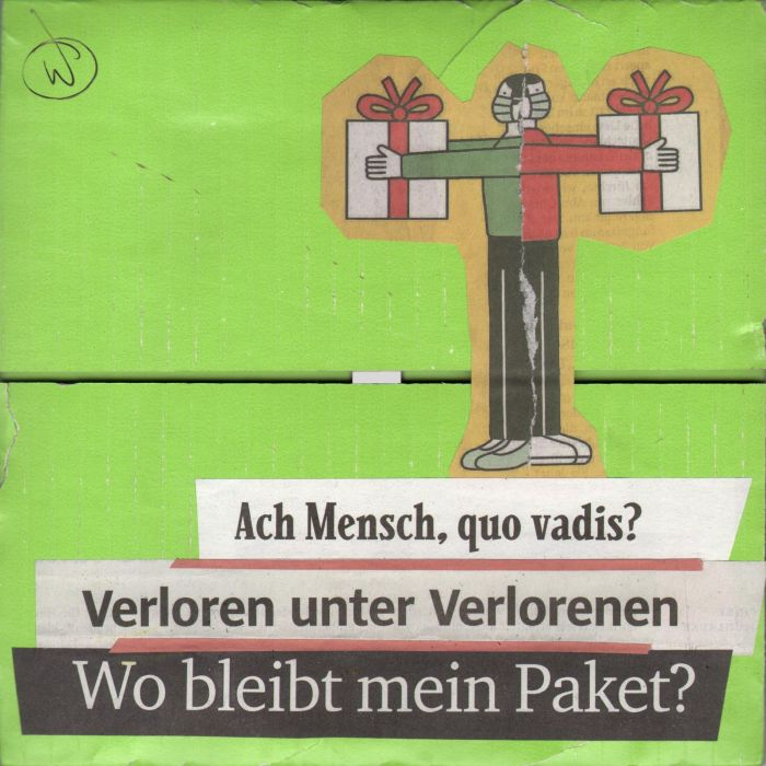      tagescollage auf upcycled-wellpappe