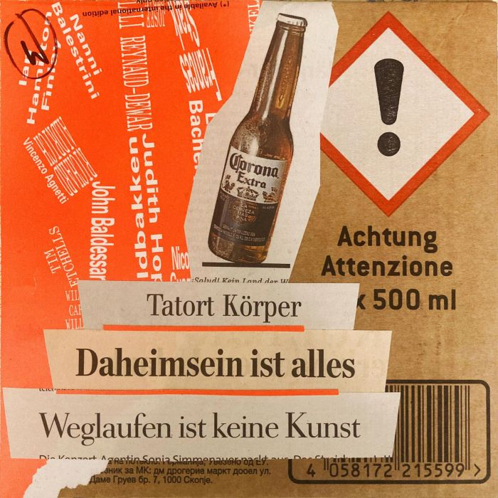 |    tagescollage auf upcycled-wellpappe